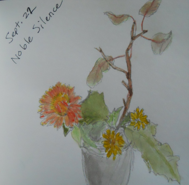 La méditation assise dans Noble Silence-Vipassana noble-silence-flowers
